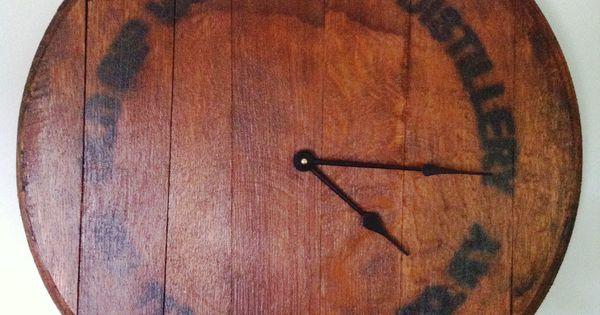 Pappy Van Winkle Barrel Head Clock For The Home Office