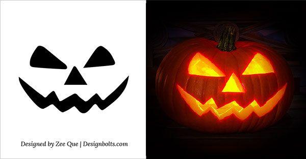yeet pumpkin template  6 Easy Yet Simple Halloween Pumpkin Carving Patterns ...
