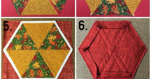 Hexagon Mug Rug Pattern Amp Tutorial On Craftsy Hexagons