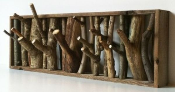 23 Creative Craft Ideas How To Use Tree Branch Coat hooks?