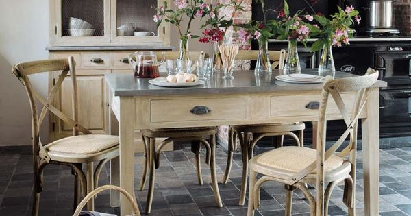 table d ner zinc maisons du monde pinterest inspiration tables et rustique. Black Bedroom Furniture Sets. Home Design Ideas