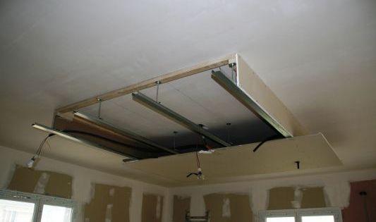 Installation faux plafond home cinema pinterest faux for Faux plafond installation