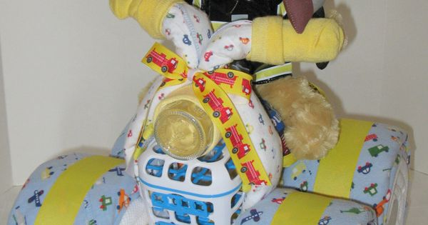 Baby Boy Gifts On Pinterest : Baby gifts to make fireman fire fighter gift