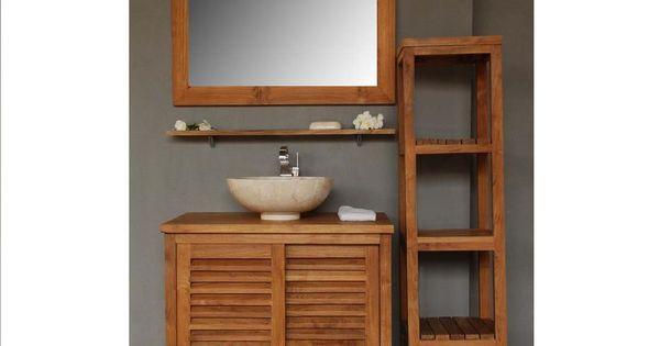 Meuble salle de bain 80cm pr t poser fa ades et plateau - Joint pret a poser salle de bain ...