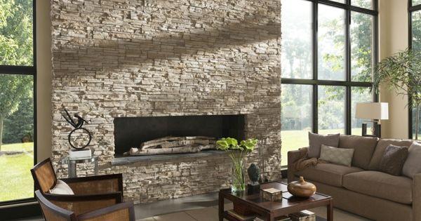 natursteinwand im wohnzimmer die natur zu hause empfangen haus pinterest