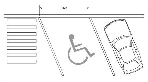 largeur et marquage au sol des stationnements r serv s en pis accessibilit voirie pmr. Black Bedroom Furniture Sets. Home Design Ideas