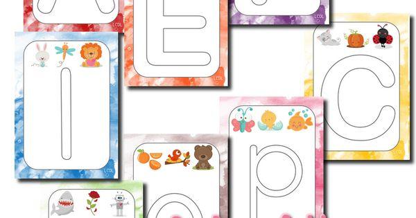 La maternelle de Laurène: Fiches lettres pâte à modeler | alphabet et prénom | Pinterest | D