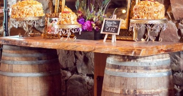 Diy Barrel Buffet Table Could Even Use In A Country