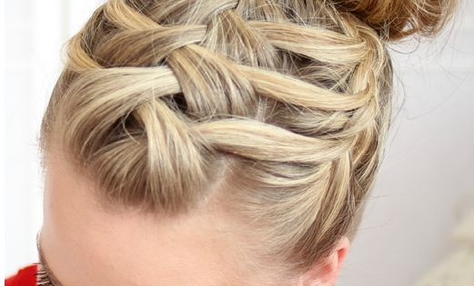 Triple french braided bun