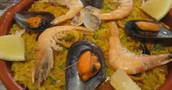 Paella, Seafood and Spanish on Pinterest