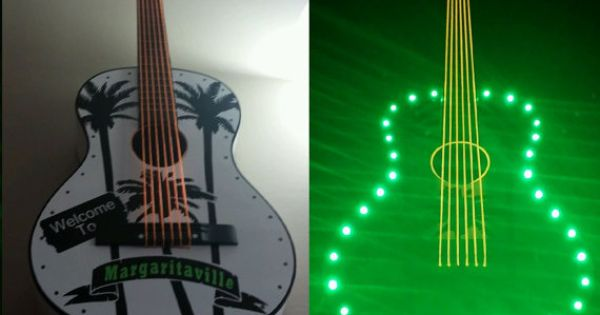 margaritaville light up led acoustic guitar decors rooms pinterest. Black Bedroom Furniture Sets. Home Design Ideas