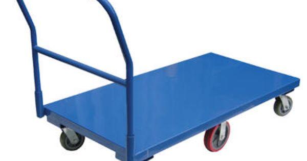 flat bed cart heavy duty steel platform cart provides long term service removable handle rolls. Black Bedroom Furniture Sets. Home Design Ideas