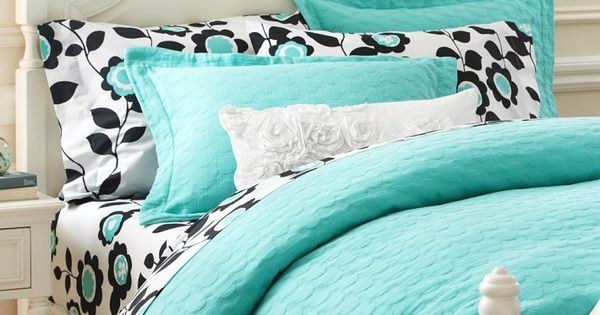 Tiffany Blue Bedding From Pottery Barn Teen New Bedroom