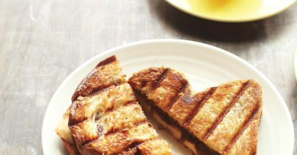 Banana Panini | Recipe | Paninis, Bananas and Hazelnut Spread