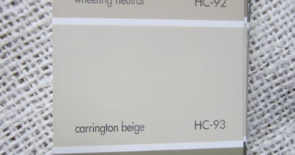Benjamin Moore Carrington Beige And Wheeling Neutral