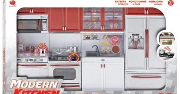 Other toys barbie doll delux modern kitchen set was for Designer kitchens pretoria