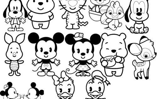Pintar Tsum Eeyore Coloring Stitch Dibujos: Disney Cuties Coloring Pages