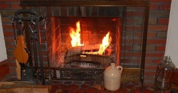How To Clean Ceramic Gas Logs Red Brick Fireplaces Fireplace Brick Fireplace