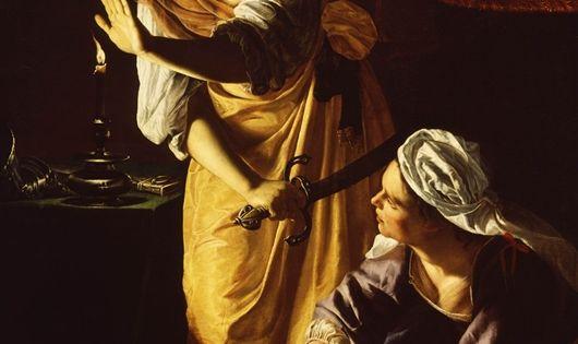 Artemisia gentileschi judith slaying holofernes painting