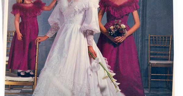 Pinterest Wedding Dresses: 1985 Furry Wedding Gowns Were A Thing? Guess So!