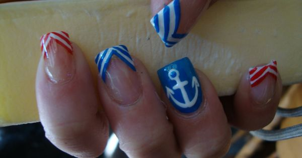 summer nail anchor designs