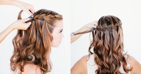www.lunacatstudio.com beauty hair makeup blog template wordpress premium Waterfall Braid Tutorial: Prom
