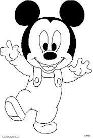 Baby Mickey Walking Coloring Page Con Imagenes Dibujos