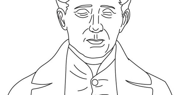 Louis Braille Coloring Pages History Coloring Sheets