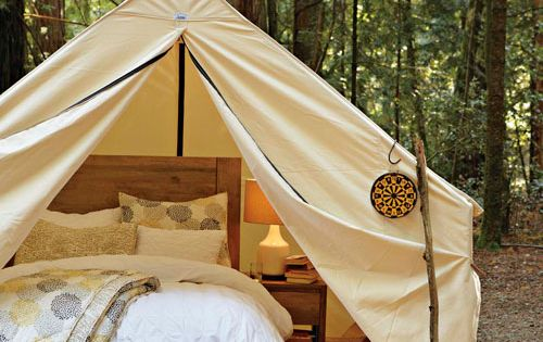walled tent by Beckel Canvas glamping camping --- backyard ideas