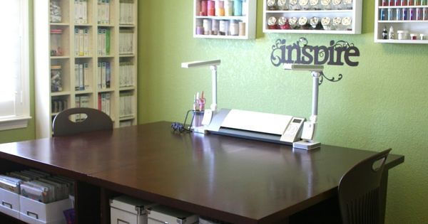 craft room storage and organization ideas | Sprinkled With Glitter: Craft Room