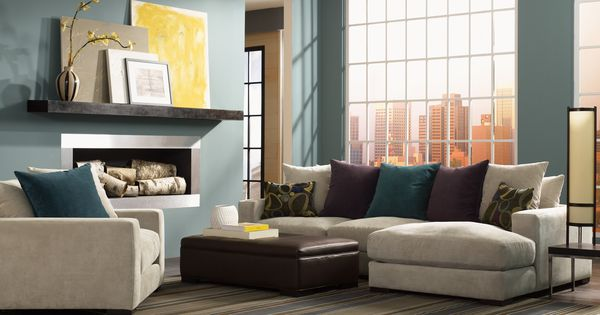 Lombardy Plush Down Alternative Sectional Available