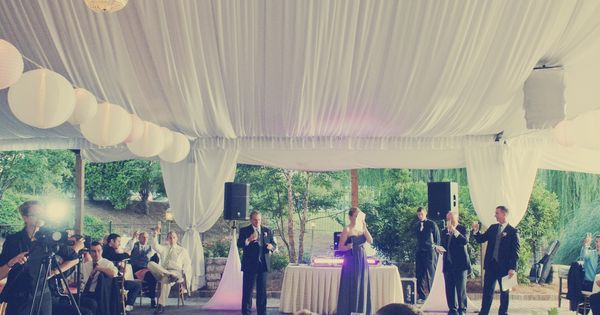 Toasts To The Bride And Groom Gardentent Reception