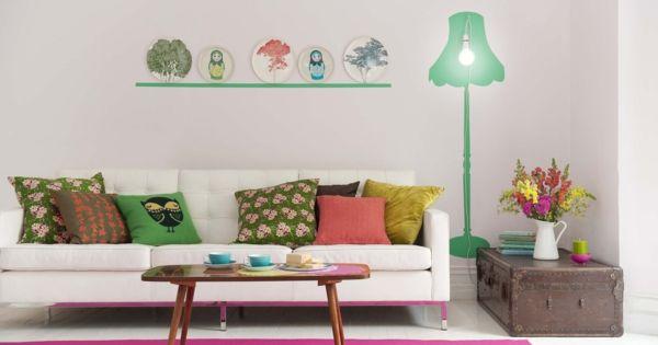 w nde streichen ideen f r das wohnzimmer wand farbe streichen idee wohnzimmer muster lampe. Black Bedroom Furniture Sets. Home Design Ideas