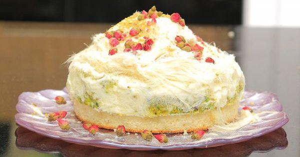 Cbc Sofra طريقة عمل تورتة آيس كريم المستكة و غزل البنات غادة التلي Recipe Food Egyptian Food Desserts