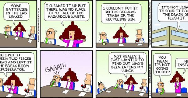 Dilbert comic strip on women dress