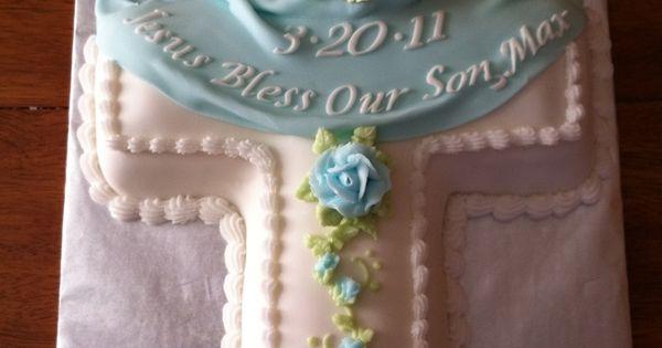boy baptism cross cake - Google Search