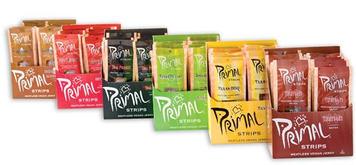 Primal Strips Products Primal Strips Meatless Vegan Jerky Primal Spirit Foods Home Of The Primal Peop Vegan Jerky Vegan Store Vegan Backpacking Food