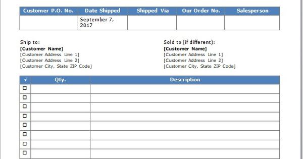 Shipping Packing List Template Word And Excel http\/\/exceltmp - issue tracking template