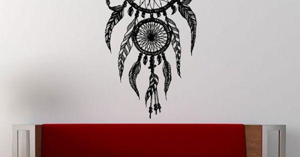 Dreamcatcher natif american indian dream catcher graphique for Decoration murale graphique