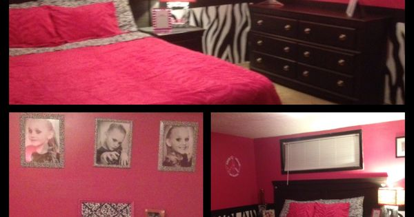 Super cute pink and zebra design with added black and for Cute zebra bedroom ideas