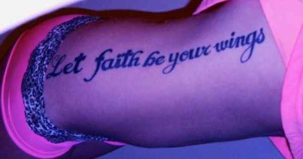 Let faith be your wings. I don't like how big it is