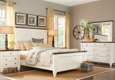 Cottage Town White 5 Pc Queen Panel Bedroom Bedroom Sets