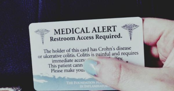 should you carry a medical alert restroom access card if you have crohn 39 s disease or ulcerative