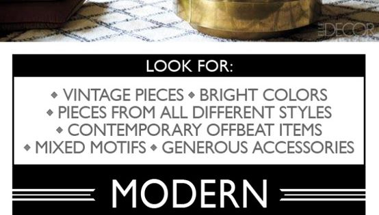 Home Decor Style guide. @Stacey Atlas check this out!!!!