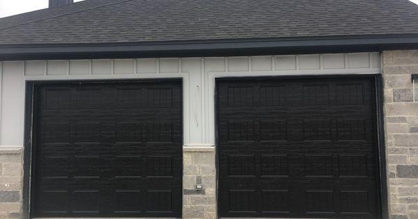 Recently Installed Clopay Gallery Collection Garage Doors In Black Residential Garage Doors Garage Residential Doors