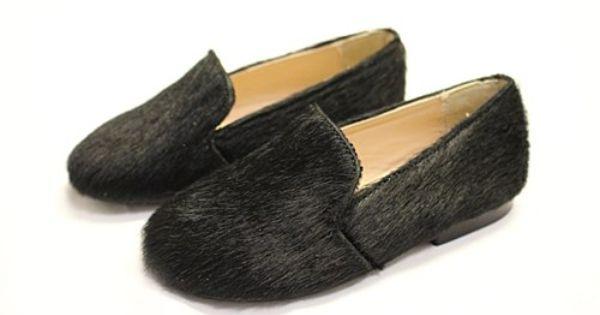 Papanatas Black Pony Hair Slip   Pony hair, Childrens shoes