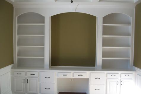 Home Office, Custom Built Wall Unit, Book Shelves, Desk. Perfect built in