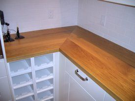 White Oak Face Grain Custom Wood Countertop With Waterlox Satin Finish Wood Countertops Countertops Kitchen