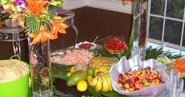Caribbean Tropical Beach Party Menu: Tropical Party Food; Some Of These Look Like Good Things