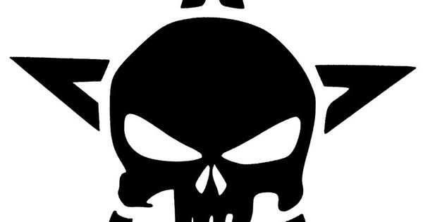 Punisher Skull With Star Vinyl Decal Sticker 22 Color
